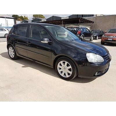 3/2007 Volkswagen Golf 2.0 FSI Comfortline 1K 5d Hatchback Black 2.0L