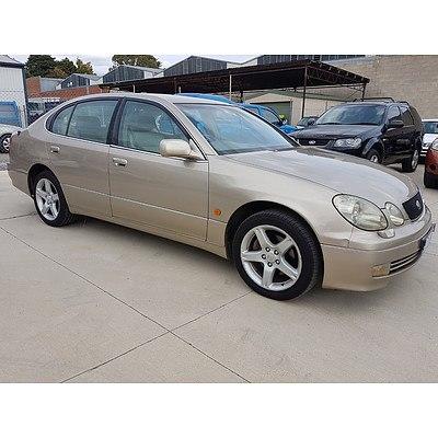 6/1999 Lexus GS300  JZS160R 4d Saloon Gold 3.0L