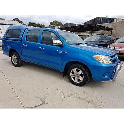 6/2006 Toyota Hilux SR5 GGN15R 06 UPGRADE Dual Cab P/up Blue 4.0L