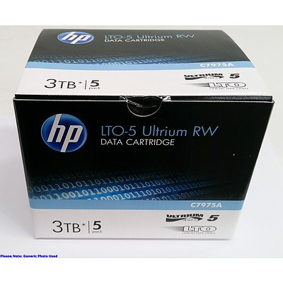 HP (C7975A) LTO-5 Ultrium RW 3TB Data Cartridges - Lot of 20 *BRAND NEW RRP over $850