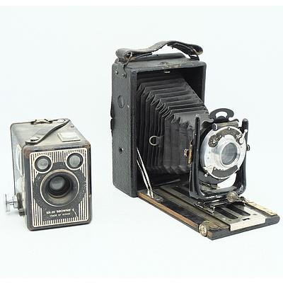 Koilos Camera and Kodak Six-20 Brownie E Camera