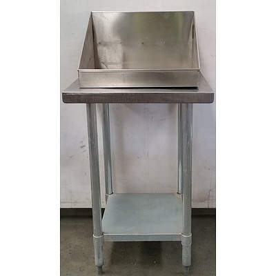 Stainless Steel Bench and Chip Hopper