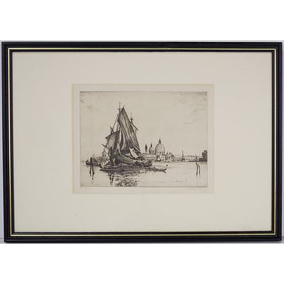 Edgar James Maybery (British 1887-1964) (A Simes nom-de-plume) Venice, Etching