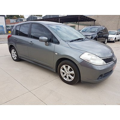 5/2008 Nissan Tiida ST PLUS C11 5d Hatchback Grey 1.8L
