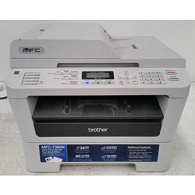 Brother MFC-7360N Black & White Multi-Function Printer & Canon i950 Printer