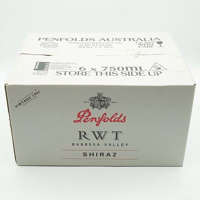 Case of Six Penfolds Vintage 1997 Shiraz RWT Barossa Valley 750ml