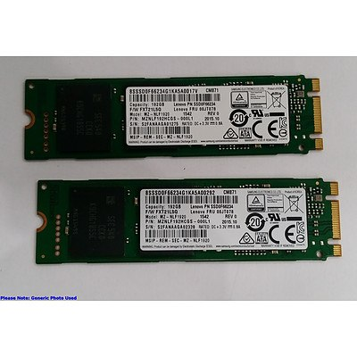 Samsung (MZ-NLF1920) M.2 192GB mSATA SSD - Lot of Two RRP over $450