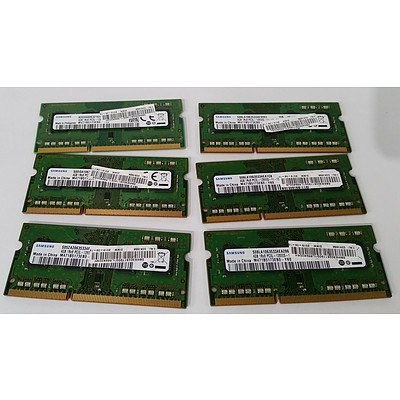 Samsung (M471B5173EB0-YK0) DDR3 4GB SODIMM RAM Module - Lot of Six RRP: $450