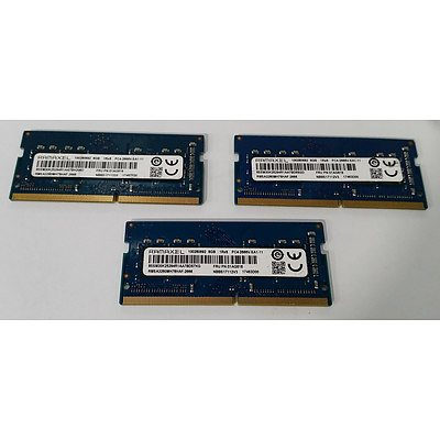 Ramaxel (01AG818) DDR4 8GB SODIMM RAM Module - Lot of Three RRP over $1,200