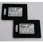 "Samsung (MZ-7TY2560) 2.5"" 256GB SATA Solid State Drive - Lot of Two"