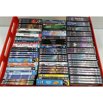 Assorted DVD's of Television Series and Movies - Lot of 100