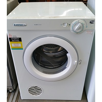 Simpson 6KG Ezi Loader Clothes Dryer