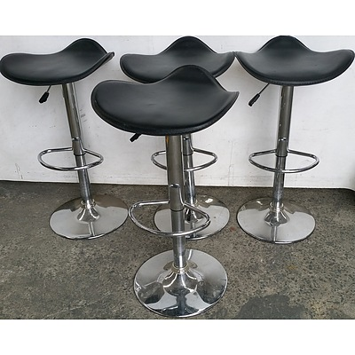 Saddle Bar Stools - Lot of Four