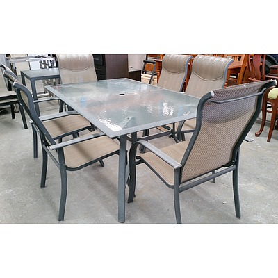 Seven Piece Outdoor Dining Setting