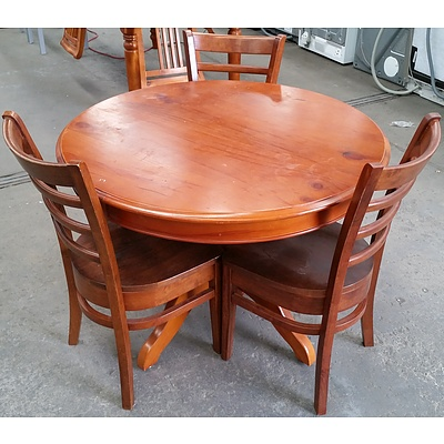 Balmoral Four Piece Maple Dining Setting