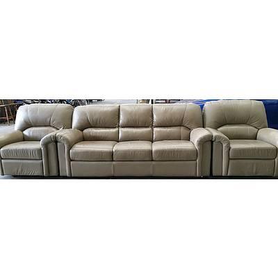 Kougi Furniture Grande Three Piece Leather Lounge Suite