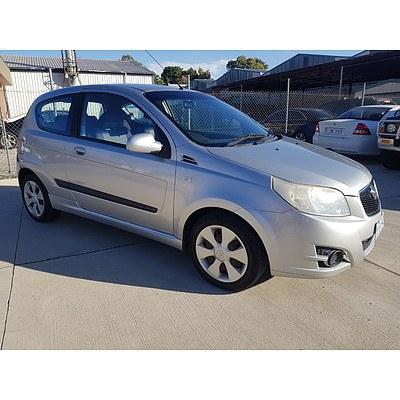 10/2008 Holden Barina  TK 3d Hatchback Silver 1.6L