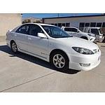 1/2005 Toyota Camry Sportivo MCV36R UPGRADE 4d Sedan White 3.0L