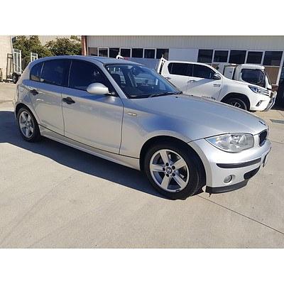 6/2005 BMW 118i E87 5d Hatchback Silver 2.0L