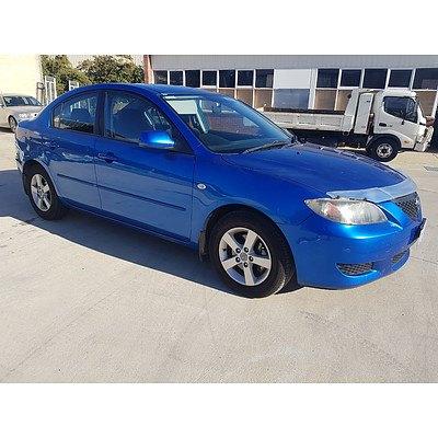 4/2006 Mazda Mazda3 MAXX BK 4d Sedan Blue 2.0L