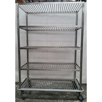 Heavy Duty Mobile Commercial Stainless Steel Gastronomy Cart