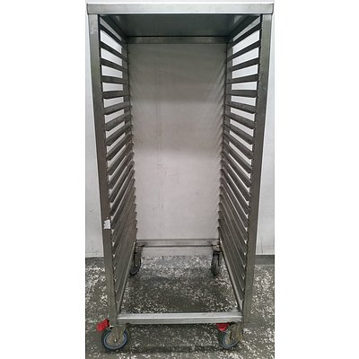 Mobile Commercial Stainless Steel Gastronomy Cart