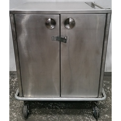 Mobile Commercial Stainless Steel Food Cart