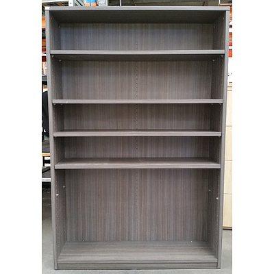 Grey Beech Veneer Bookshelf