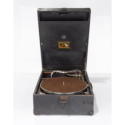 His Master's Voice Portable Gramophone