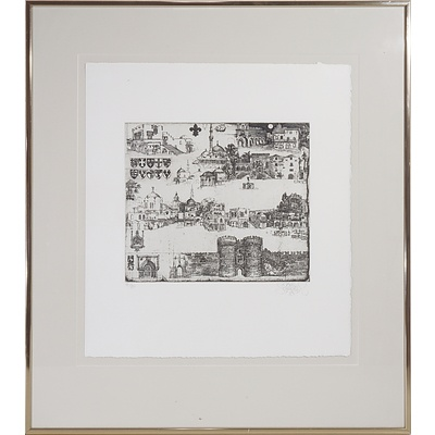 Jorg Schmeisser (1942-2012) Rhobos 1981, Limited Edition Etching, 21/80