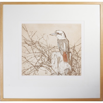 Janet Luxton (1954-) Winter 1994, Limited Edition Etching, 21/30