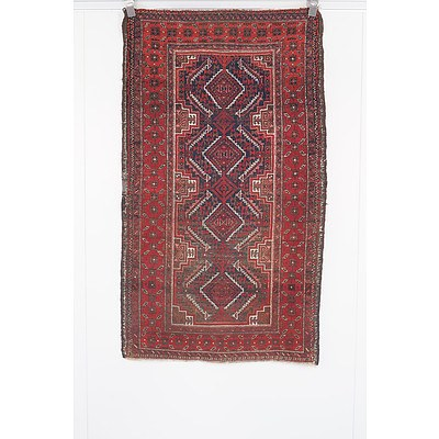 Old Persian Tribal Baluch Rug