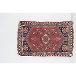 Small Vintage Eastern Hand Knotted Wool Pile Rug