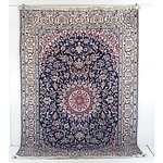 Persian Isfahan Hand Knotted Wool Pile Rug