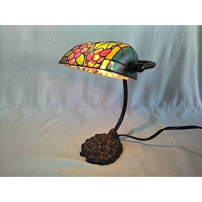 Colourful Banker style lamp (working)