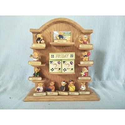 Teddy Bear Perpetual Calendar