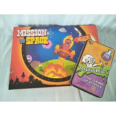 Mission to Space board game & Totally Gross science game (NEW)