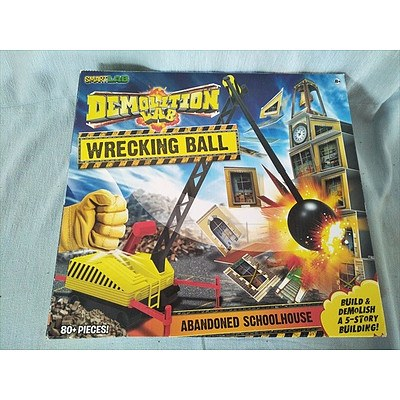 Demolition Lab, Wrecking Ball - Abandoned Schoolhouse Game by Smart Lab (NEW)