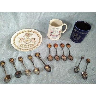 Assorted British Royal family memorabilia
