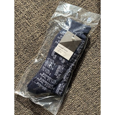 Boorowa Real Estate Socks - One Pair Navy