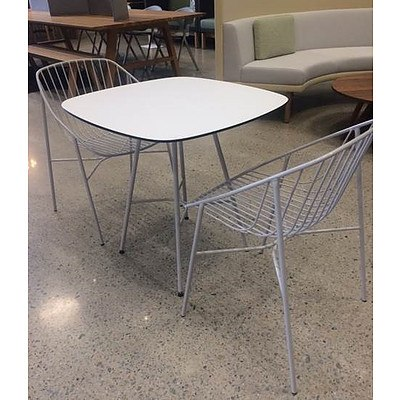 Pino Outdoor Table Setting (Table with 2 Chairs) Valued at $2400