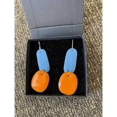 Kin Gallery - Jenna O'Brien Enamel Double Drop Earrings