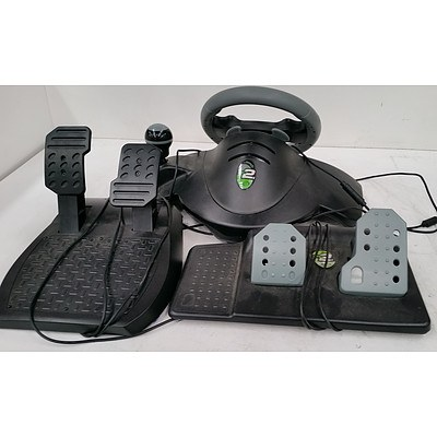 Mad Catz MC2 Steering Wheel & Pedals for XBox 360