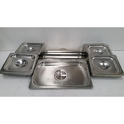 Stainless Steel Tray Lids - Lot of 29