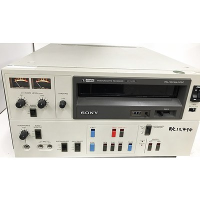 Sony VO-5630 V-Matic SP VideoCassette Recorder