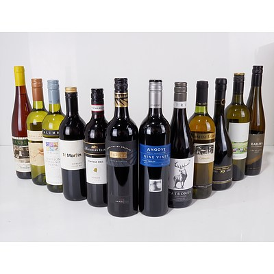 Case of 12x 750ml Mixed Red and White Wine