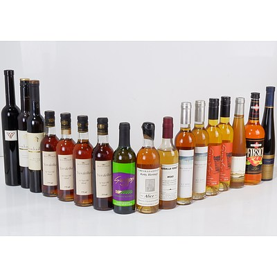 Large Group of Mixed Dessert Wine