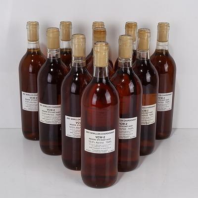 Eleven Bottles of James Busby 2001 Semillon Chardonnay VCW-2 750ml