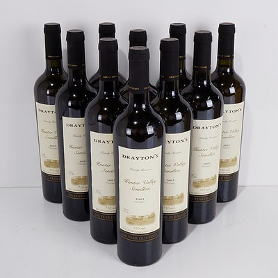 Ten Bottles of Drayton's 2003 Vintage Hunter Valley Semillon 750ml