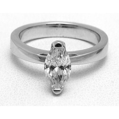 Exceptional White Marquise Diamond Ring